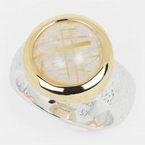 Rutilquarz Ring golden...