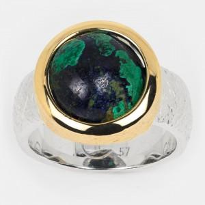 Azurit Malachit Ring Silber...