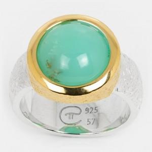 Chrysopras Ring Silber...