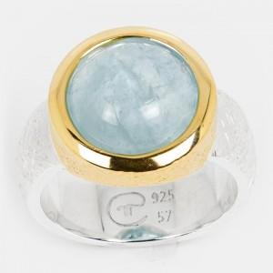 Aquamarin Ring Silber...
