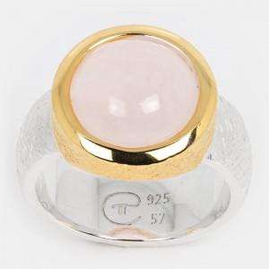 Rosenquarz Ring Silber...