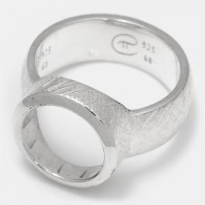 Ring Silber 12mm Ovalis leer