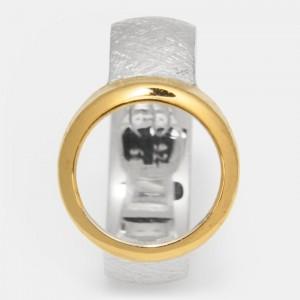 Ring vergoldet Silber 12mm...