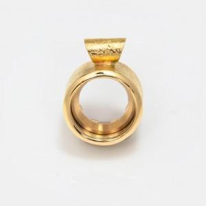 Anhänger Gold Klare Eleganz...