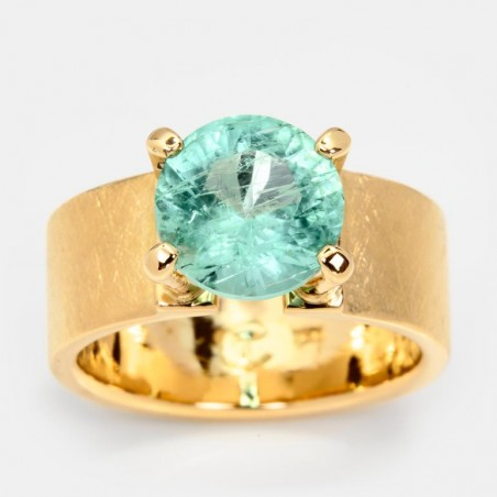 Smaragd Ring Gold Klare Eleganz 10mm