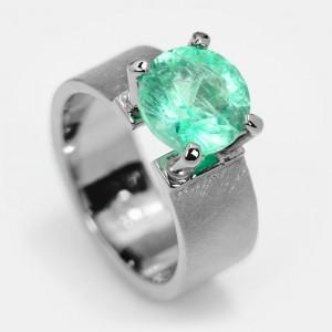Smaragd Ring Platin Klare...