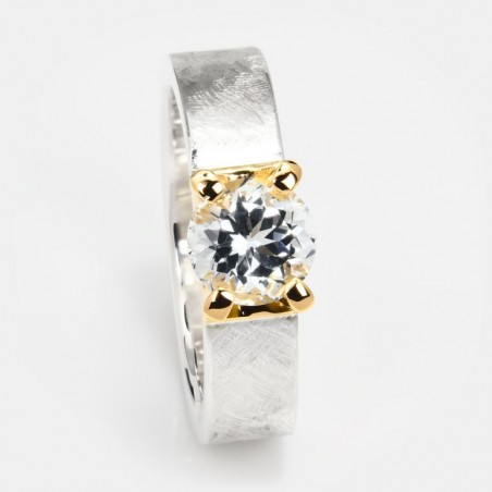 Topas Ring Klare Eleganz 7mm