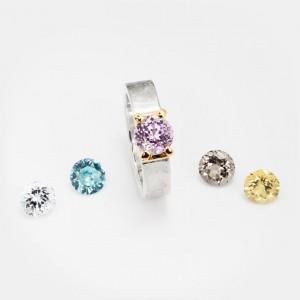 Kunzit Ring Klare Eleganz 7mm