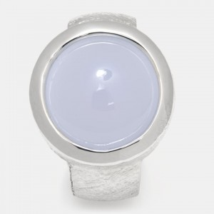 Calcedon Ring Silber 12mm...