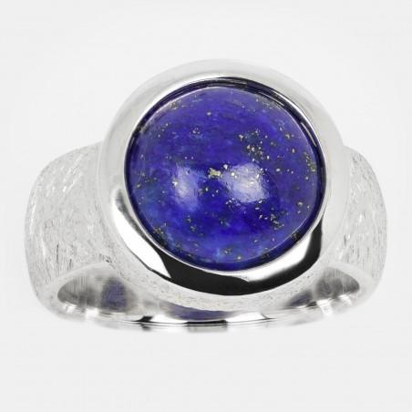 Lapis Lazuli Ring Silber 12mm Ovalis