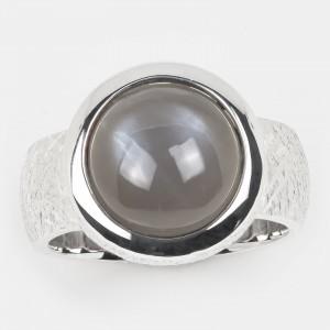 Mondstein Ring grau Silber...