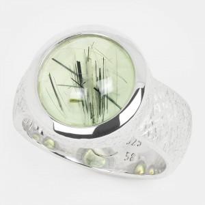 Prehnit Ring Silber 12mm...