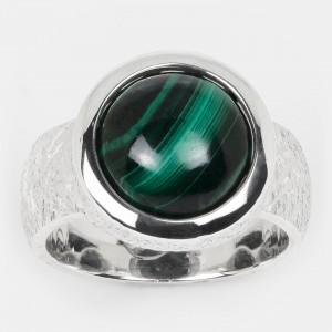 Malachit Ring Silber 12mm...