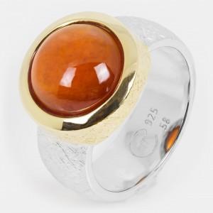 Granat Ring vergoldet...