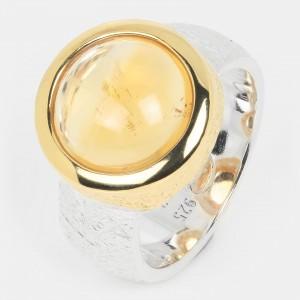 Citrin Ring vergoldet...