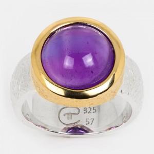 Amethyst Ring vergoldet...