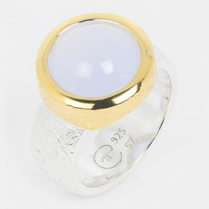 Calcedon Ring vergoldet...