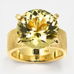 Goldberyll Ring Klare...